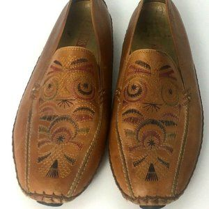 Pikolinos Jerez Brown  Embroidered loafer sz:9